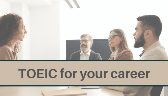 Blog banner for TOEIC for your career article